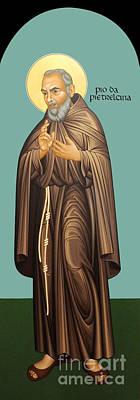 Painting - St. Pio Of Pietrelcina - Rlpop by Br Robert Lentz OFM