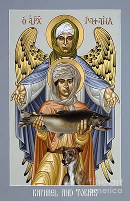 Painting - St. Raphael And Tobias - Rlrat by Br Robert Lentz OFM