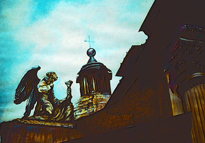 Wall Art - Painting - St. Rocco, Roma by Gaye Elise Beda