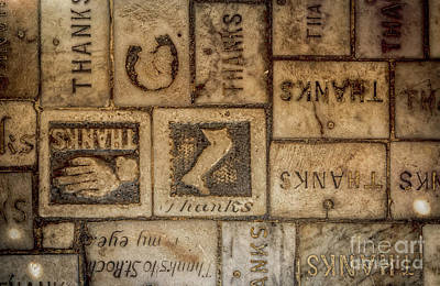Photograph - St Roch Floor Tiles- Thanks by Kathleen K Parker