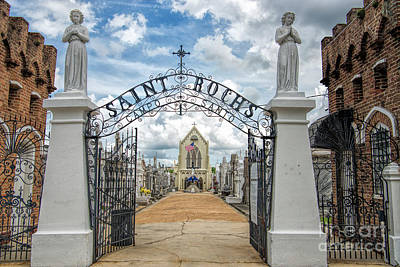 Photograph - St. Roch's Cemetery In New Orleans, Louisiana by Bonnie Barry