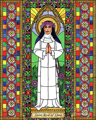 Painting - St. Rose Of Lima by Brenda Nippert