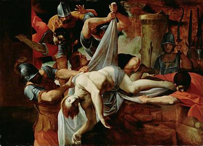 St. Sebastian Thrown Into The Cloaca Maxim Art Print by Lodovico Carracci
