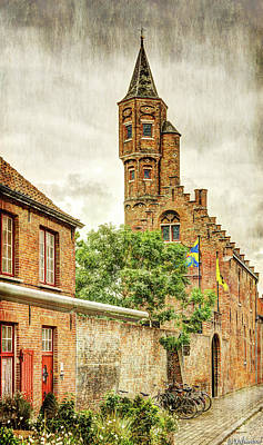 Photograph - St Sebastian's Guild Tower In Bruges - Vintage by Weston Westmoreland