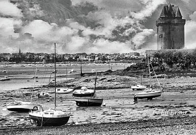 Photograph - St. Servan Anse At Low Tide by Elf Evans