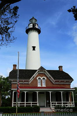 Photograph - St. Simons Island Light by Christiane Schulze Art And Photography