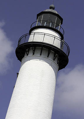 St Simons Island Lighthouse Art Print by Elizabeth Eldridge