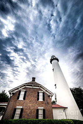Photograph - St Simons Lighthouse by Jim DeLillo