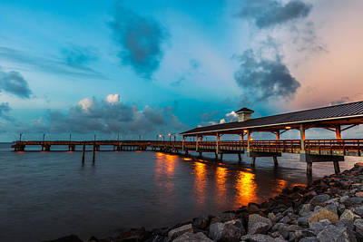 Photograph - St. Simons Pier Twilight by Chris Bordeleau