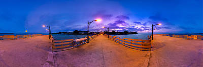 Photograph - St. Simons Pier Twilight Panorama by Chris Bordeleau