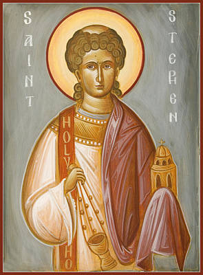 St Stephen II Art Print by Julia Bridget Hayes