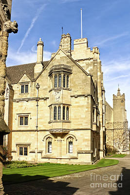 Photograph - St Swithuns Tower And The Old Grammar Hall, Magdalen College Oxford by Terri Waters
