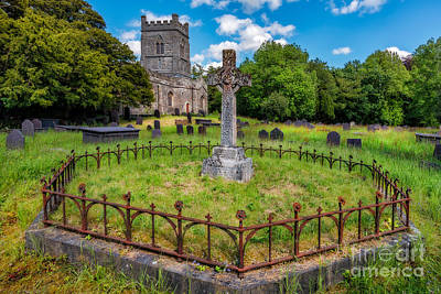Graveyard Digital Art - St Tegai Cross by Adrian Evans