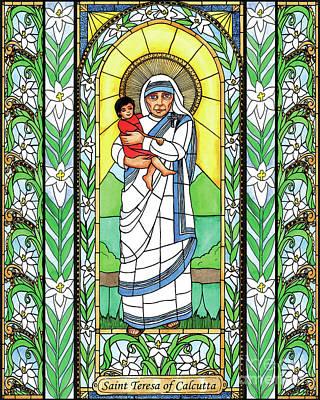 Painting - St. Teresa Of Calcutta by Brenda Nippert