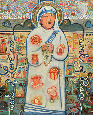 Teresa Painting - St. Teresa Of Kolkata by Jen Norton