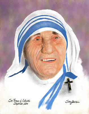 Mother Theresa Painting - St. Teresa by Stacy Bearden