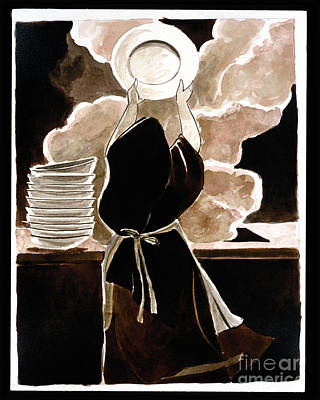 St. Therese Doing The Dishes - Mmdtd Art Print