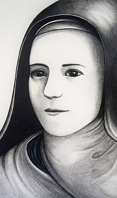 St. Therese Of Lisieux Original by Mary Ellen Frazee