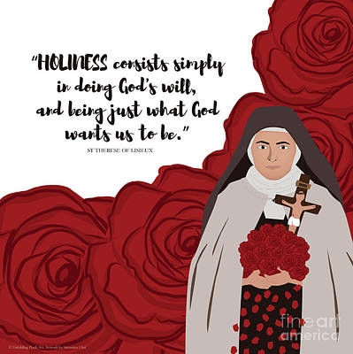 St Therese Of Lisieux On Holiness Art Print by Antonina Chai
