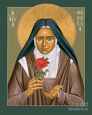Painting - St. Therese Of Lisieux - Rltdl by Br Robert Lentz OFM