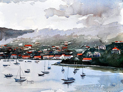 Villa Painting - St. Thomas Bay by Spencer Meagher