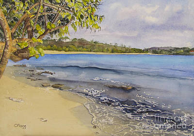 Painting - St Thomas Beach by Carol Flagg