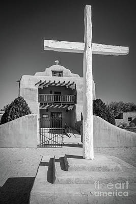 Photograph - St Thomas Church In Abiquiu by Inge Johnsson