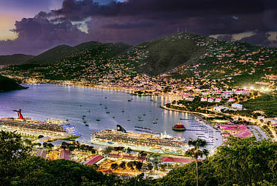 Photograph - St Thomas Nights by Gary Felton