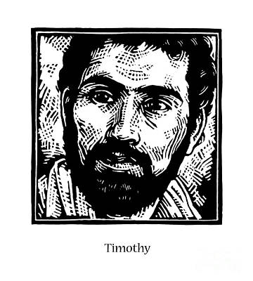 St. Timothy Painting - St. Timothy - Jltim by Julie Lonneman