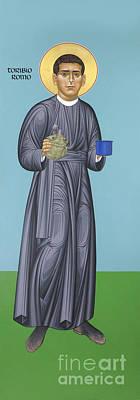 Painting - St. Toribio Romo - Rltor by Br Robert Lentz OFM