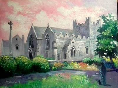 Painting - St Trinity Abbey Adare County Limerick Ireland by Paul Weerasekera