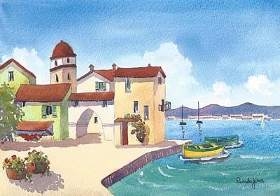 St.tropez Painting - St Tropez Harbour South Of France by Pamela Jones
