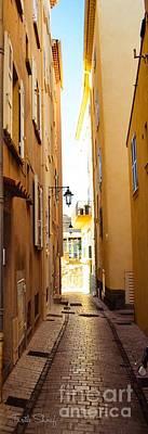St. Tropez - Narrow Streets  Art Print by Turtle Shoaf
