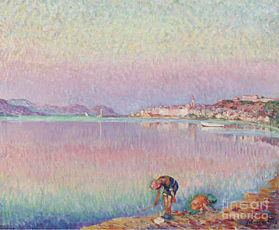 1907 Painting - St Tropez. Two Kids By The Water by MotionAge Designs