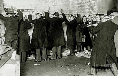 Al Capone Photograph - St Valentines Day Massacre by Jon Neidert