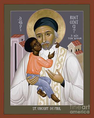 Painting - St. Vincent De Paul - Rlvdp by Br Robert Lentz OFM