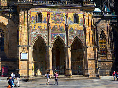 Photograph - St Vitus Cathedral Entrance by C H Apperson