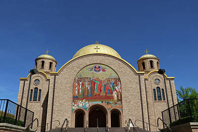 Photograph - Sts. Volodymyr And Olha Ukranian Catholic Church - Chicago by Allen Beatty