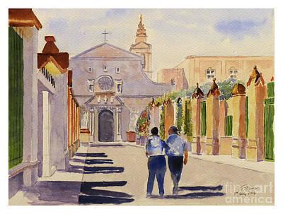 Painting - St Wistin Avenue by Godwin Cassar