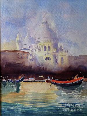 Painting - Sta Maria Della Salute Venice by Godwin Cassar
