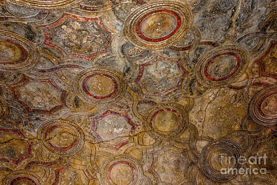 Photograph - Stabian Baths - Decorative Ceiling - Pompeii by Debra Martz