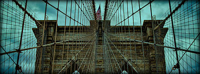 River Scenes Photograph - Stable - Brooklyn Bridge by Stephen Stookey