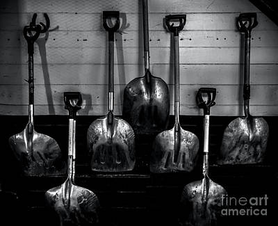 Photograph - Stable Shovels by James Aiken