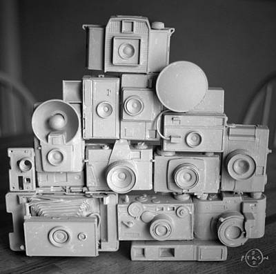 Gary Peterson Photograph - Stack O Cameras by Gary Peterson