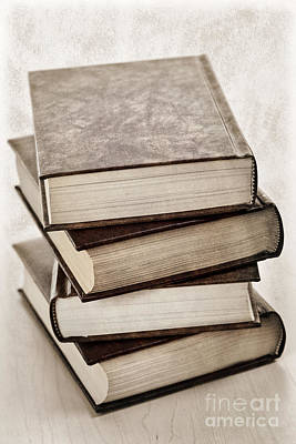 Leather Photograph - Stack Of Books by Elena Elisseeva