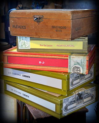 Photograph - Stack Of Cigar Boxes by Carla Parris