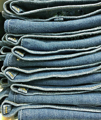 Clothes Clothing Photograph - Stack Of Denim  by Tom Gowanlock