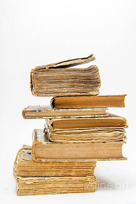 Stack Of Old Books Art Print