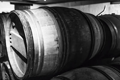 Vintage Wine Lovers Photograph - Stacked Barrels by Georgia Fowler