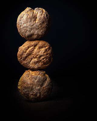 Photograph - Stacked Biscuits by DS Dodd